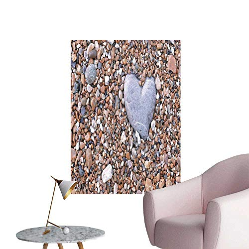 - SeptSonne Wall Stickers for Living Room Stone Heart Pebble Vinyl Wall Stickers Print,32