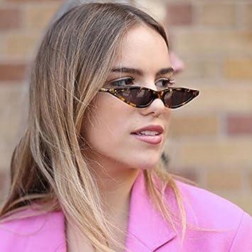 1d4b3d3eb9d04 YOOSKE Cat Eye Sunglasses Women Small Triangle Eyeglasses Vintage Stylish Cateye  Sun Glasses Female UV400 Glasses 2018 Gifts C5 Yellow  Amazon.in  Beauty