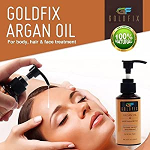 Natural and Organic Argan Oil for Hair, Face, Nails, Beard & Cuticles - USDA Certified - 100 ml
