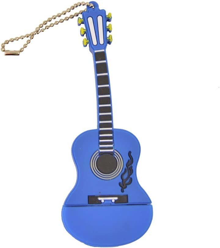 FEBNISCTE 128GB Memoria USB Nuevo Tipo Guitarra Azul Pendrive: Amazon.es: Electrónica