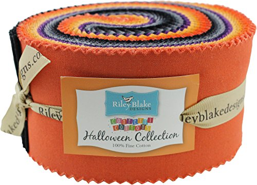Confetti Cottons Halloween Rolie Polie 40 2.5-inch Strips