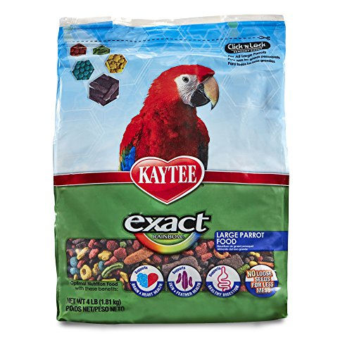 Kaytee Exact Rainbow Bird Food for Large Parrots, 4 lb