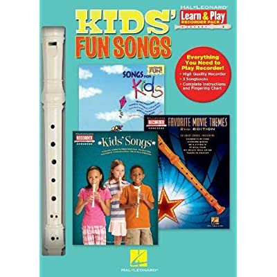 Hal Leonard 102843 Kids Fun Songs with Songs for Kids/Kids Songs/Movie Themes - Learn To Play Recorder Pack: Hal Leonard: Musical Instruments