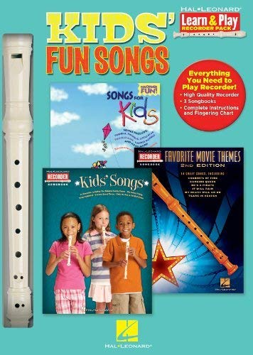 Hal Leonard 102843 Kids Fun Songs with Songs for Kids/Kids Songs/Movie Themes - Learn To Play Recorder Pack by Hal Leonard