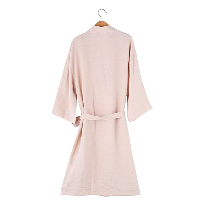 f5220d2335 Amazon.com  Natuhemp Women s 100% Hemp Bathrobe One Size Fits All White  Blue Pink (pink)  Home   Kitchen