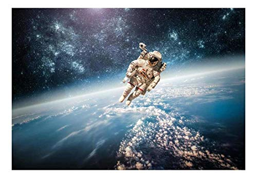 An Astronaut Floating About Planet Earth Wall Mural