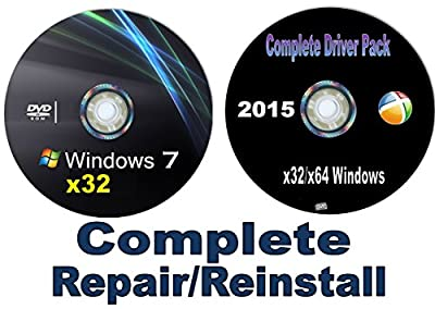 Recovery Disc compatible w/ WINDOWS 7 Home Basic and Home Premium x32/x64 bit Repair/Recovery/Restore Boot Disc Factory Fresh Re-install~~Fix PC~*NOW* w/Network Drivers added~Full Support Included