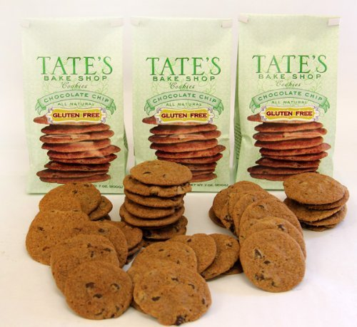 Tate's Bake Shop Gluten Free Chocolate Chip Cookies, 7oz Bag, Pack of 3 by Tate's Bake Shop
