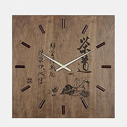 Vintage reloj de pared de madera habitacion oficina mudo clasico reloj reloj de cuarzo de China