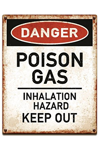 Danger Poison Gas Keep Out Warning Sign Poster 12x18 inch