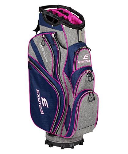 Tour Edge Male Exotics Xtreme4 Cart Bag (Men's, Exotics Ladies Extreme 4 Cart Bag Navy Scratch Plaid/Pink For Sale