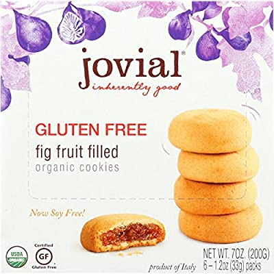 Jovial Cookie - Organic - Fig Fruit Filled - Gluten Free - 7 oz - case of 10 - 95%+ Organic - Gluten Free -