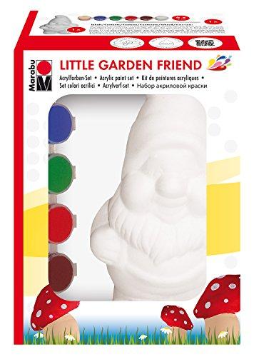 Marabu 1430990001 - Acrylfarbenset Little Garden Friend, bunt