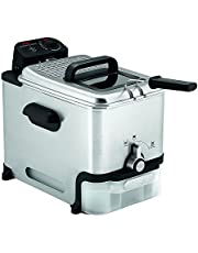 T-Fal Deep Fryer, Friteuse, Deep Fryer Basket, Automatic Oil Filter, Ultimate EZ Clean, 3.5L, Stainless Steel, Silver