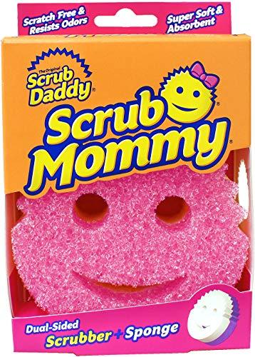 Scrub Mommy Scratch Free Dubbelzijdige Scrub Spons, Roze
