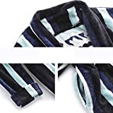 JZX Comfortable Home Pajamas Shop Cotton with Pockets Bathrobe- Winter Couple Models Pajamas Thickening Keep Warm Long Section Nightgown Bathrobe Set Men's and Women's Home Clothes,Large,2