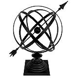 Sundial Cast Iron 24'' Armillary Arrow Sphere Garden Decor