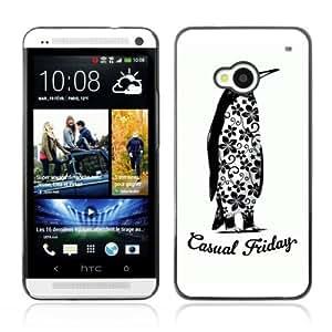 YOYOSHOP [Funny Casual Friday Penguin] HTC One M7 Case