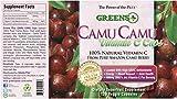 Camu Camu Dietary Super - Fruit Supplement | Natural Vitamin C | Pure Camu Berry with Vitamins & Minerals - 120 Veggie Capsules by Greens+