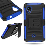 CoverON® for Google Nexus 5 Belt Clip Holster Case [Explorer Series] Hybrid Heavy Duty Protective Phone Cover with Kickstand - ( Blue / Black )