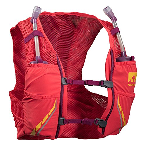 Nathan NS4545-0326-32 Female VaporMag 2.5L Running Hydration Packs, Hibiscus/Magenta Purple, Small ()