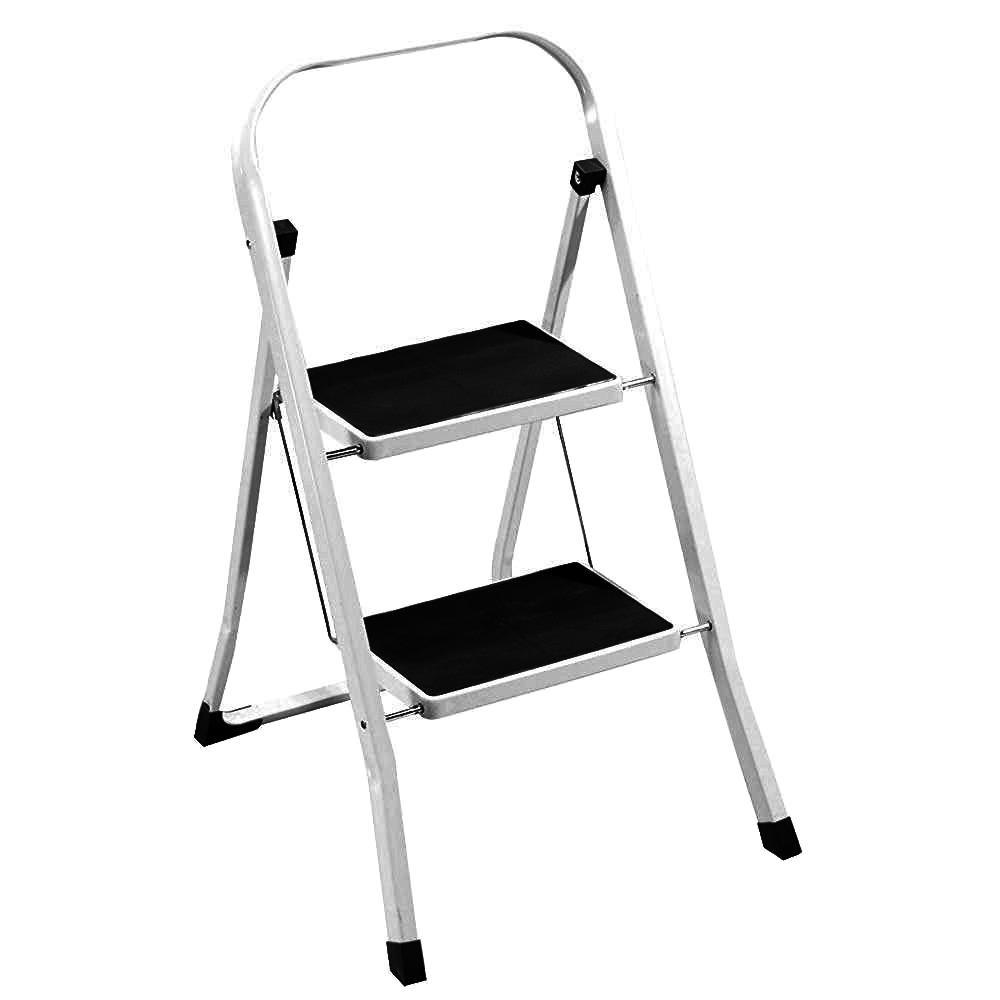 CrazyGadget® 2 Step Ladder with Rubber Grip Tread Safety Non Slip Folding Step Ladder Kitchen Stool Home Garden Tool DIY - White Amazon.co.uk Garden u0026 ...  sc 1 st  Amazon UK & CrazyGadget® 2 Step Ladder with Rubber Grip Tread Safety Non Slip ... islam-shia.org