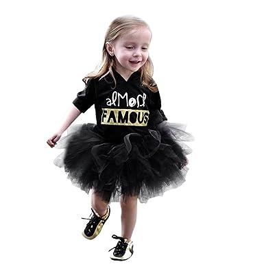 Mädchen Kleid, OverDose Nette Kleinkind Kinder Baby Mädchen Brief ...