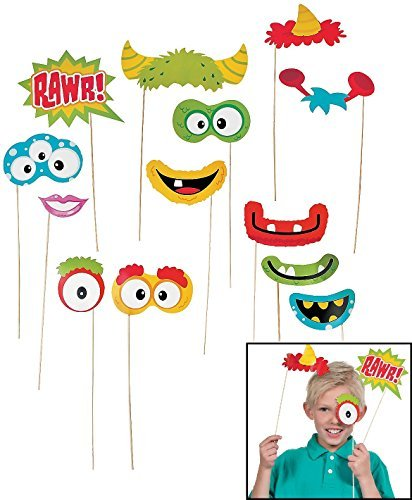 Fun Monster Photo Stick Props (12 Pack) 1 1/2