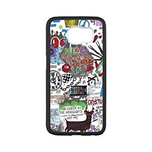 Fayruz- Personalized Protective Hard Textured Rubber Coated Case Cover for Samsung Galaxy S6 - All Time Low -S6O133
