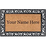 Nance Industries YourOwn Custom Name Welcome Mat, 24-Inch by 39-Inch