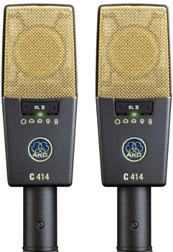 AKG Pro Audio C414 XLII Stereoset Vocal Condenser Microphone, Multipattern, Matched Pair