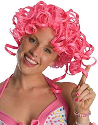 Secret Wishes  Costume Candy Girl Big Curl Wig, Pink, One Size (Katy Perry Candy)