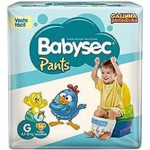 Fraldas descartáveis Babysec Pants Galinha Pintadinha, 16 unidades, Tamanho G 8,5 - 12 Kg