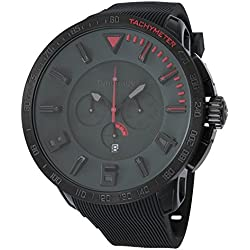 Red Tendence watch Gulliver Sport Chrono black board ~ index 10ATM 50mm TT560005 Men's parallel import goods]