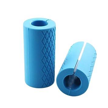 Feiledi® - Puños de silicona para mancuernas, cómodos y duraderos, accesorio para aumentar