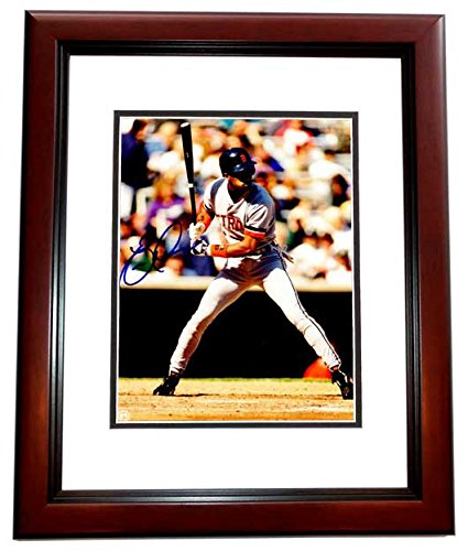 Eric Davis Signed - Autographed Detroit Tigers 8x10 inch Photo MAHOGANY CUSTOM FRAME - 1990 World Series Champion
