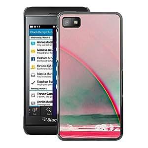 A-type Arte & diseño plástico duro Fundas Cover Cubre Hard Case Cover para Blackberry Z10 (Rainbow Art Sun Summer Sea Red Teal)