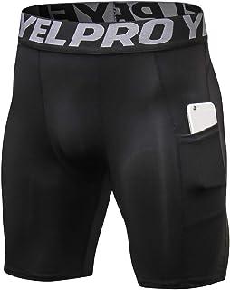 Ffox Mens Compression Stretch Sports Training Dry Tights Running Shorts