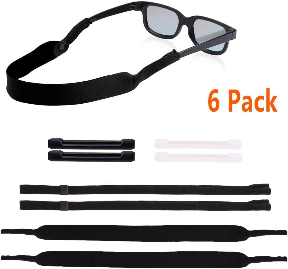 Adjustable Eyeglasses Retainer Sports Sunglasses Chain Holder Strap for Women Men Kids 3 Pack Red /& Green /& Yellow
