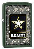 Zippo US Army Logo Pocket Lighter, Green Matte