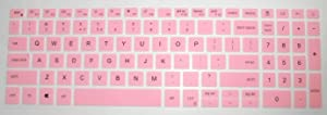 BingoBuy US Layout Keyboard Protector Cover Skin for Dell inspiron 15-3505 15-5505 15-5501 15-5502 15-5508 15-5509 15-7500 15-7501 15-7506 17-7706 with BingoBuy Card Case(Pink)
