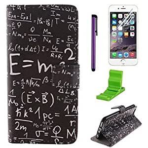 GX patrón fórmula matemática caso de cuero de la PU con el protector de pantalla y aguja para el iphone 6