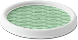 Copco Non-Skid Pantry Cabinet Lazy Susan Turntable, 9-Inch, White/Green