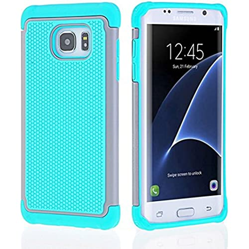 Galaxy S7 Edge Case, [Soft Silicone Series] Shock Absorbing Hybrid Rubber Plastic Impact Defender Rugged Slim Hard Case Cover Shell For Samsung Galaxy Sales