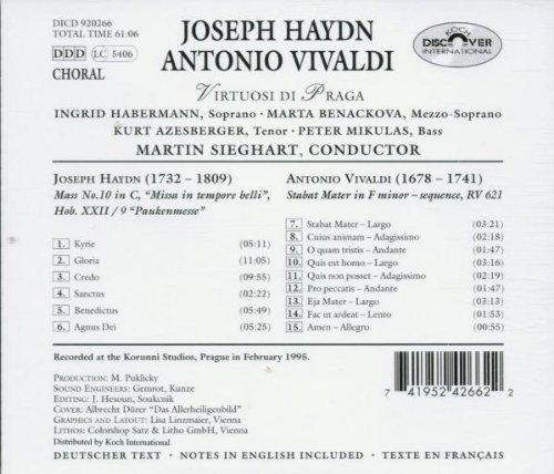 Haydn: Mass No. 10 in C, ''Missa in tempore belli'' / Vivaldi: Stabat Mater in F minor - sequence, RV 621