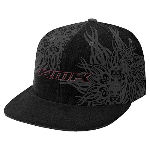 OEM Polaris Black & Gray RMK Snowmobile Fitted Baseball Cap Hat Size L / XL (Polaris Baseball Hat)