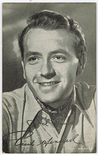 Exhibit Paul Henried Arcade Card: BW 1940s (13mm MADE IN U.S.A.) (Exhibit Arcade)