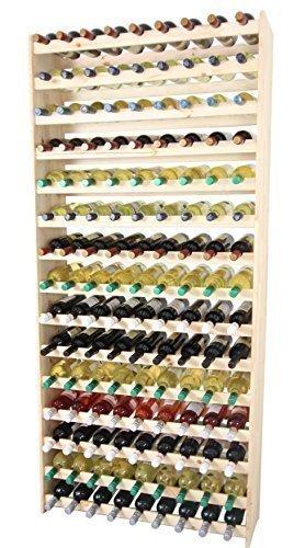 Weinregal Weinregal Holz Flaschenregal für 135 Flaschen !!!!! Massiv-135