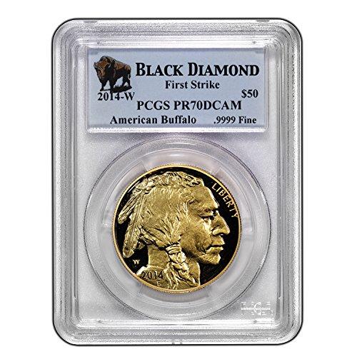 2014 Gold Buffalo - 2014 W 1 oz Proof Gold Buffalo PR-70 PCGS (FS, Black Diamond) 1 OZ PR-70 PCGS