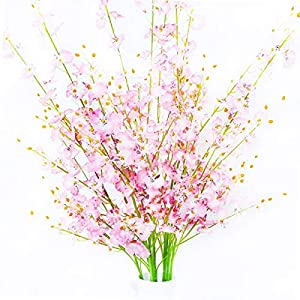 "MISSWARM 10 Pieces 37.7"" Long of Orchid Dancing Lady Butterfly Artificial Flower Artificial Flowers Fake Flower for Wedding Home Office Party Hotel Restaurant Patio or Yard Decoration 8"